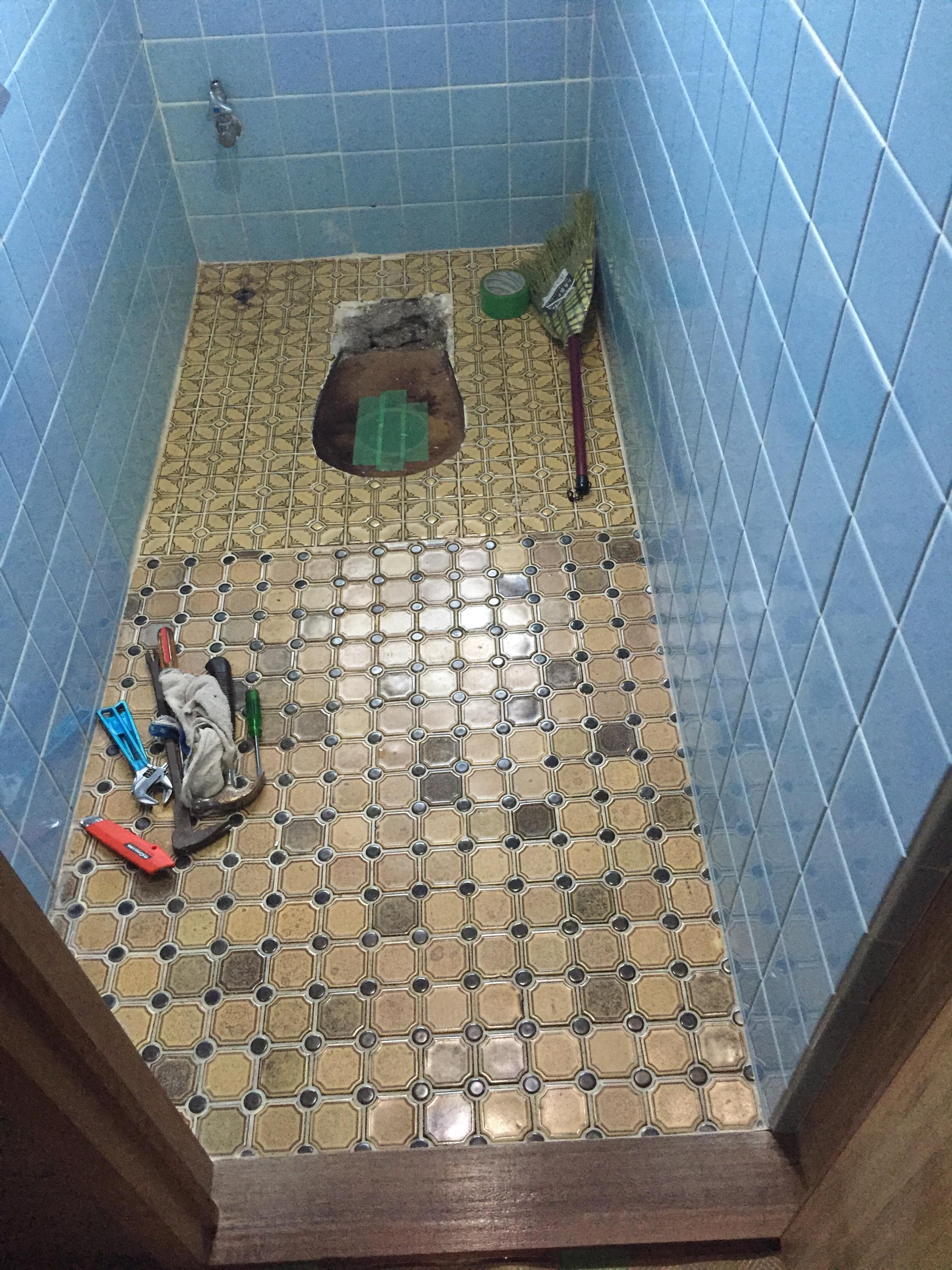 新居浜市 簡易水栓トイレへリフォーム 施工前