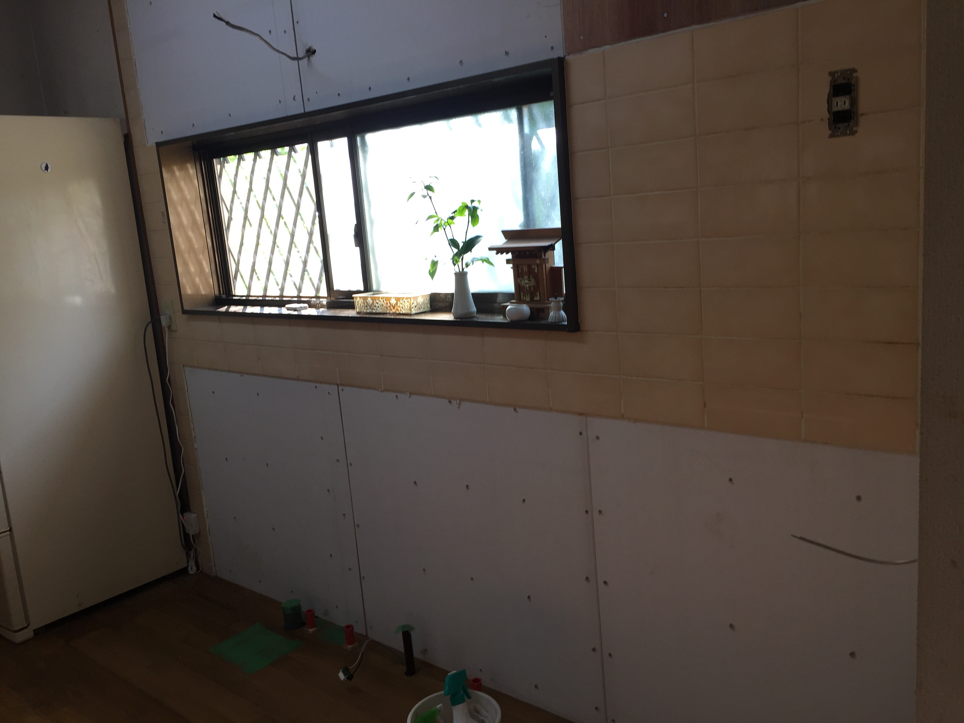 新居浜市 キッチンリフォーム 配管・配線