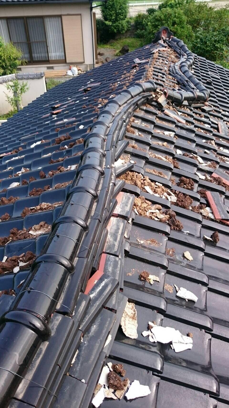 熊本で屋根瓦の復帰