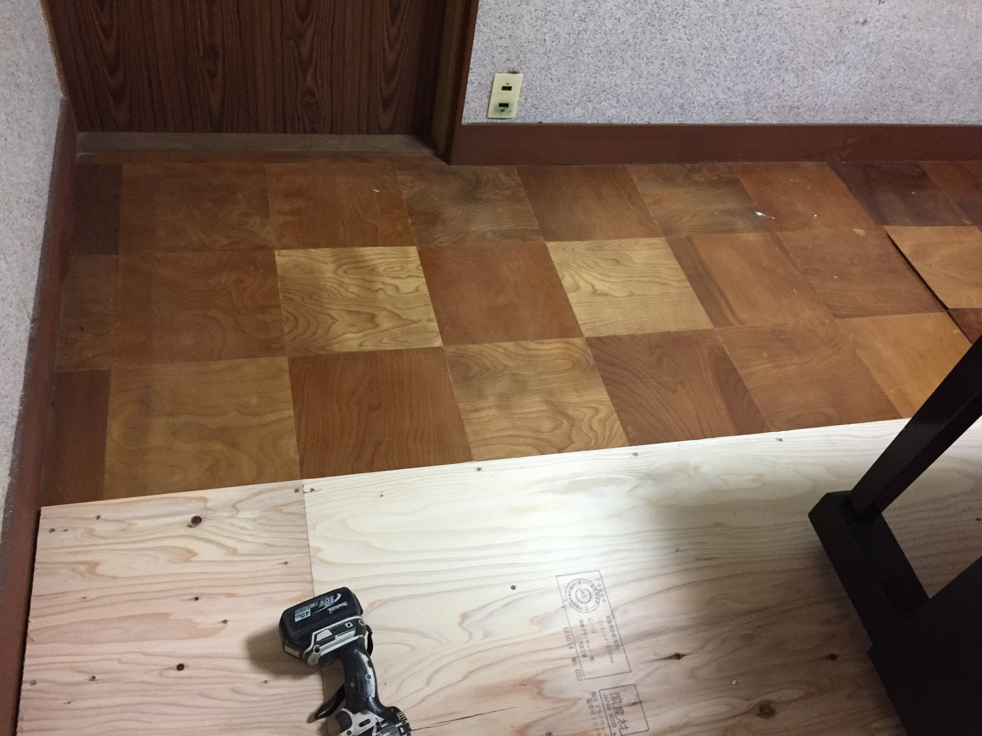 子供部屋へリフォーム 施工前 床