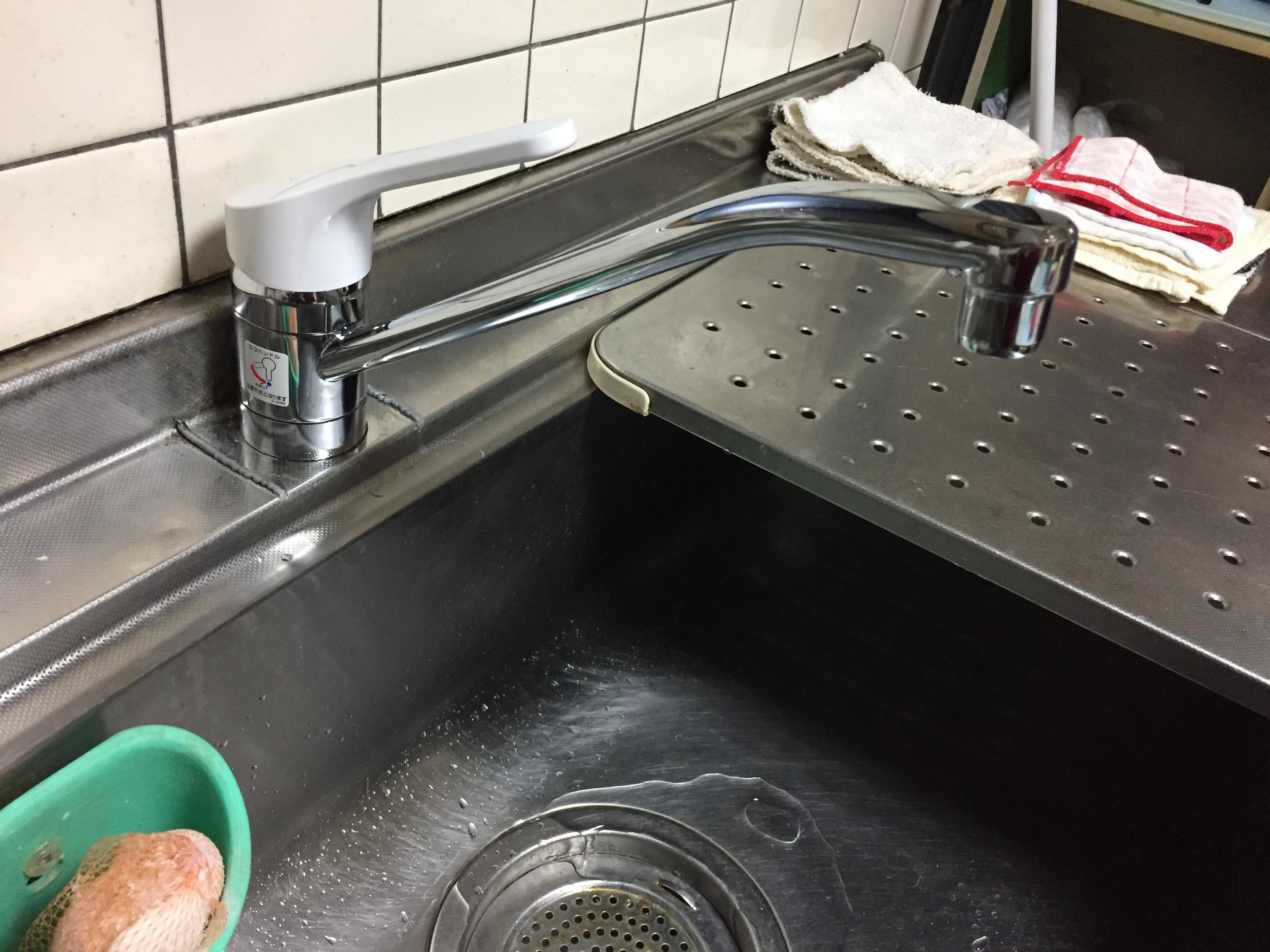 西条市 キッチン水栓交換工事 施工後