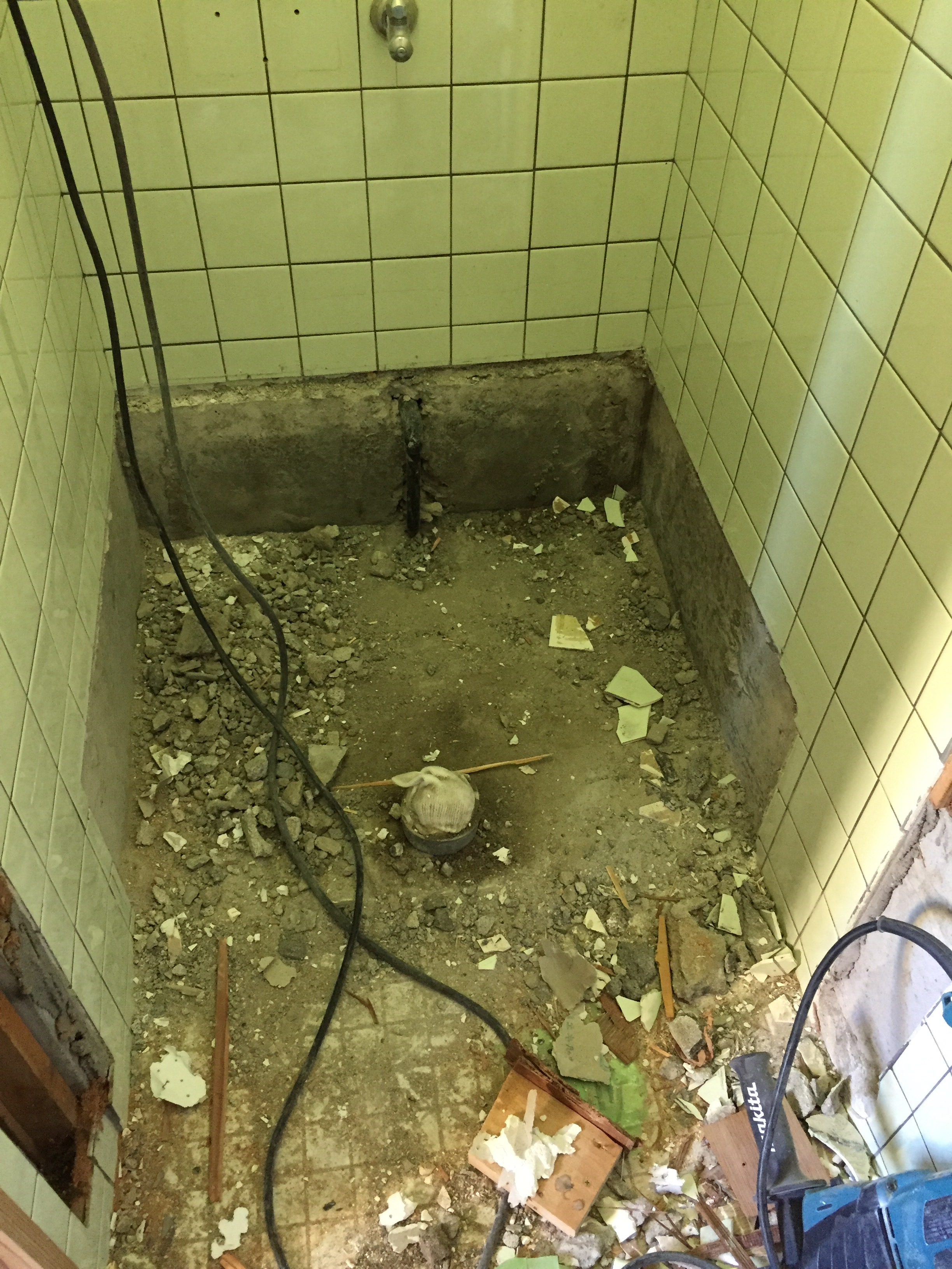 西条市 和式トイレから洋式トイレにリフォーム 施工中