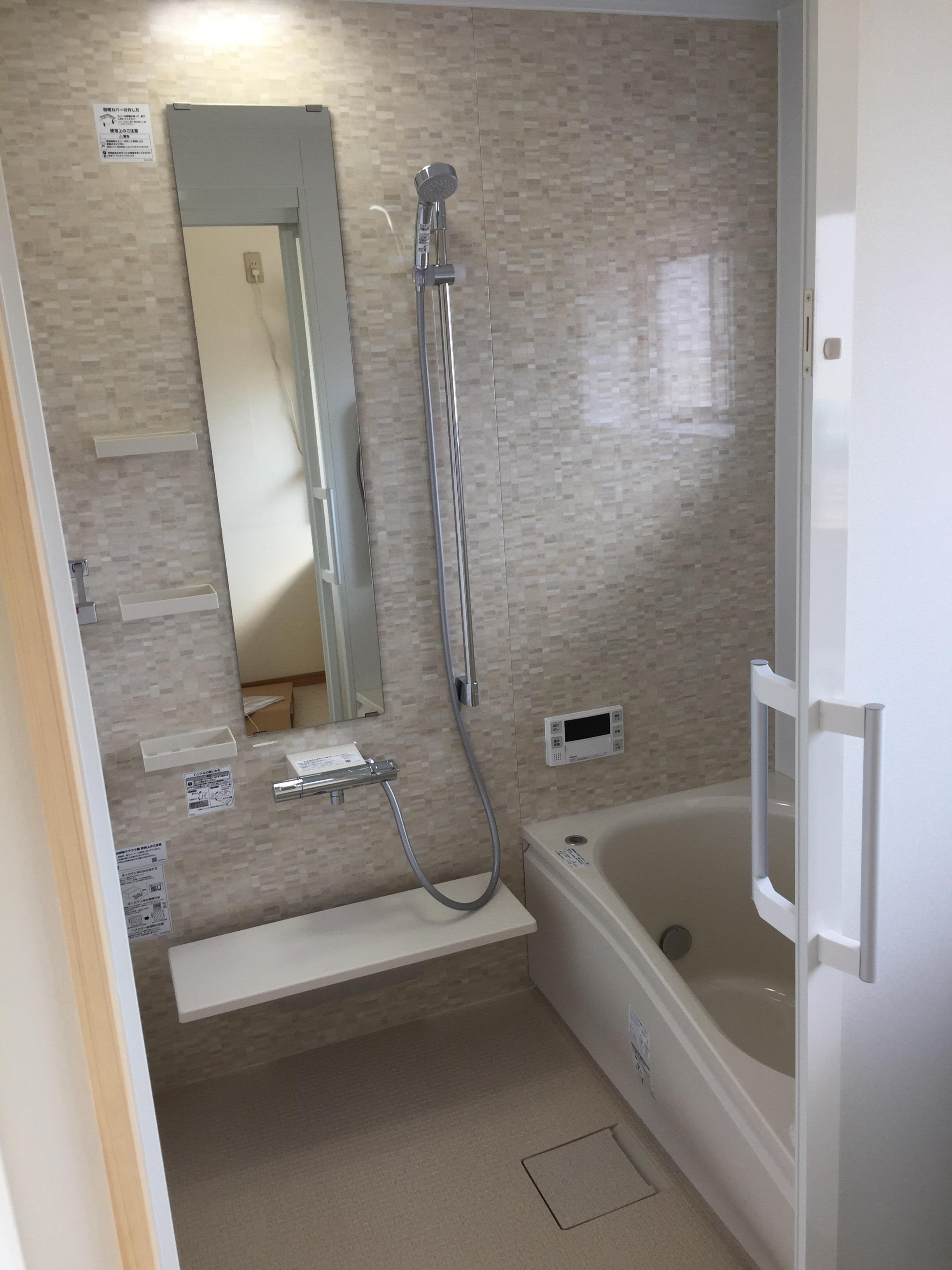 西条市 タイル貼り浴室からユニットバスへリフォーム 施工後2