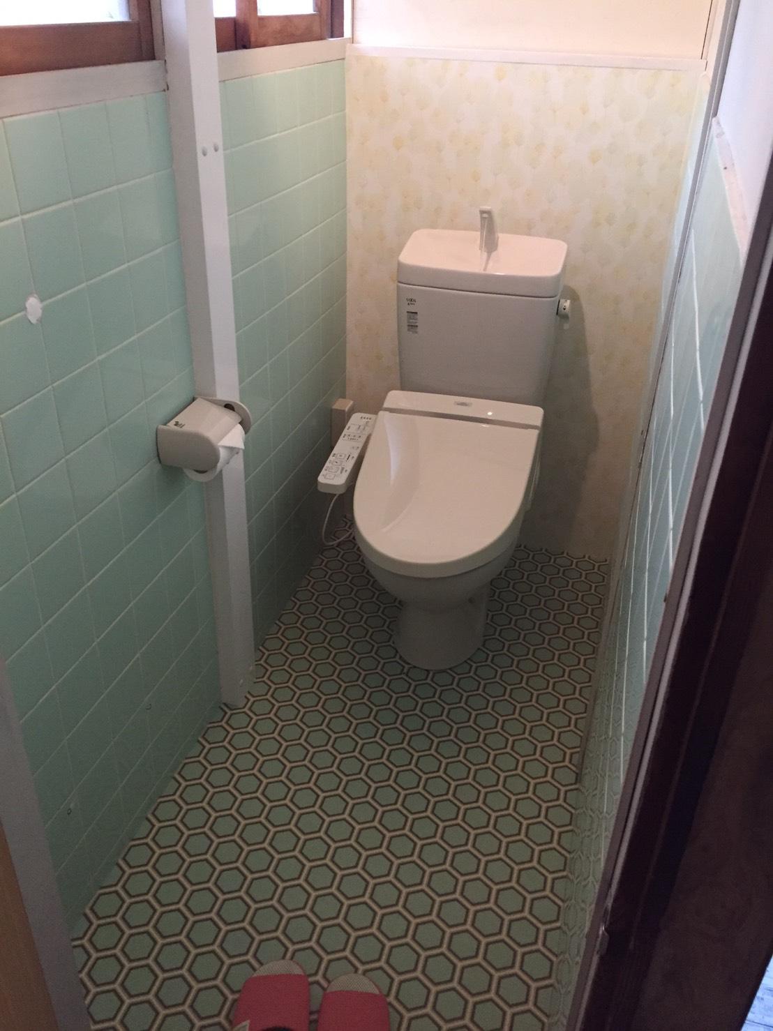 西条市 和式トイレから洋式ウォシュレットトイレにリフォーム 施工後