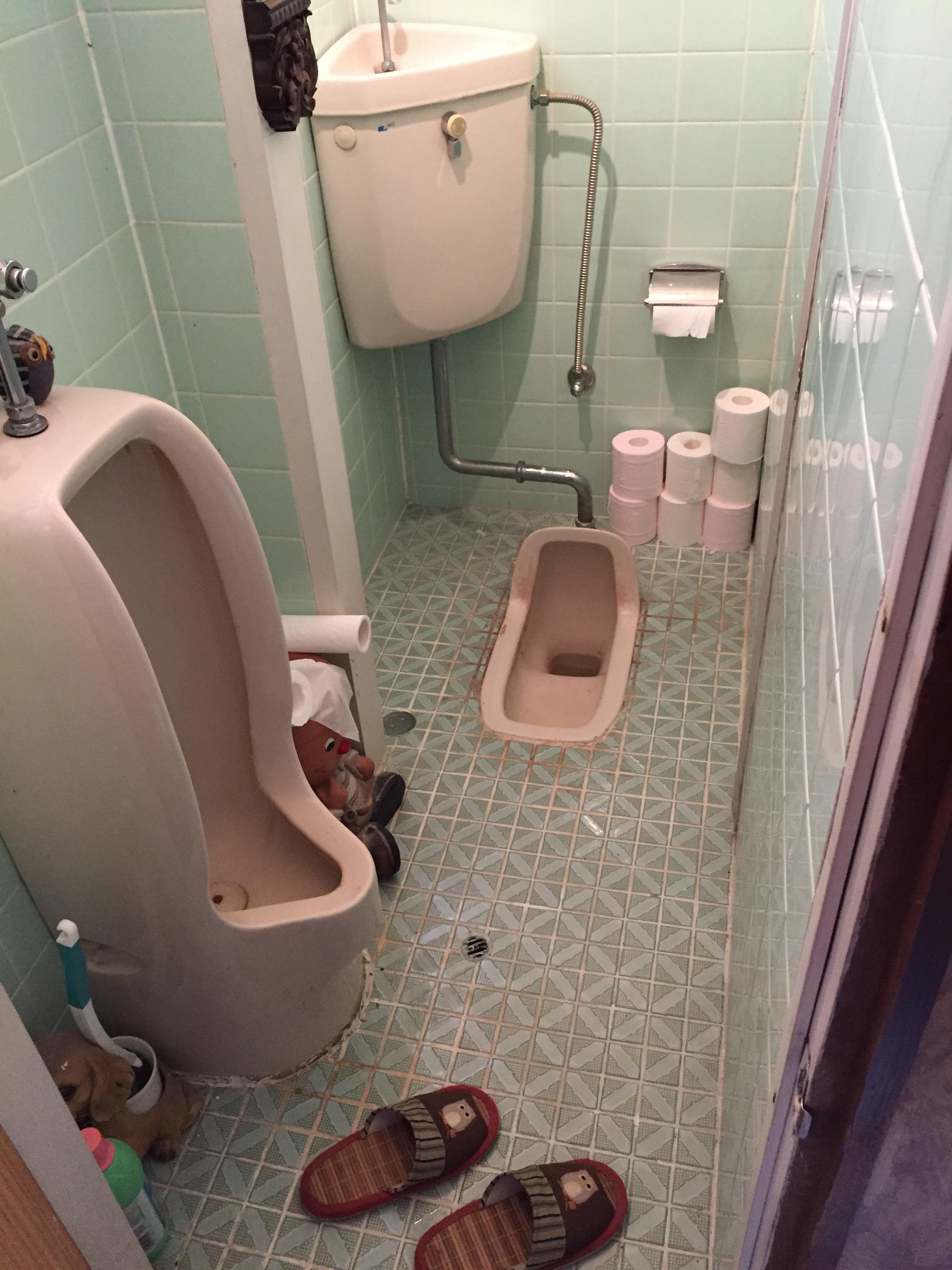 西条市 和式トイレから洋式ウォシュレットトイレにリフォーム 施工前