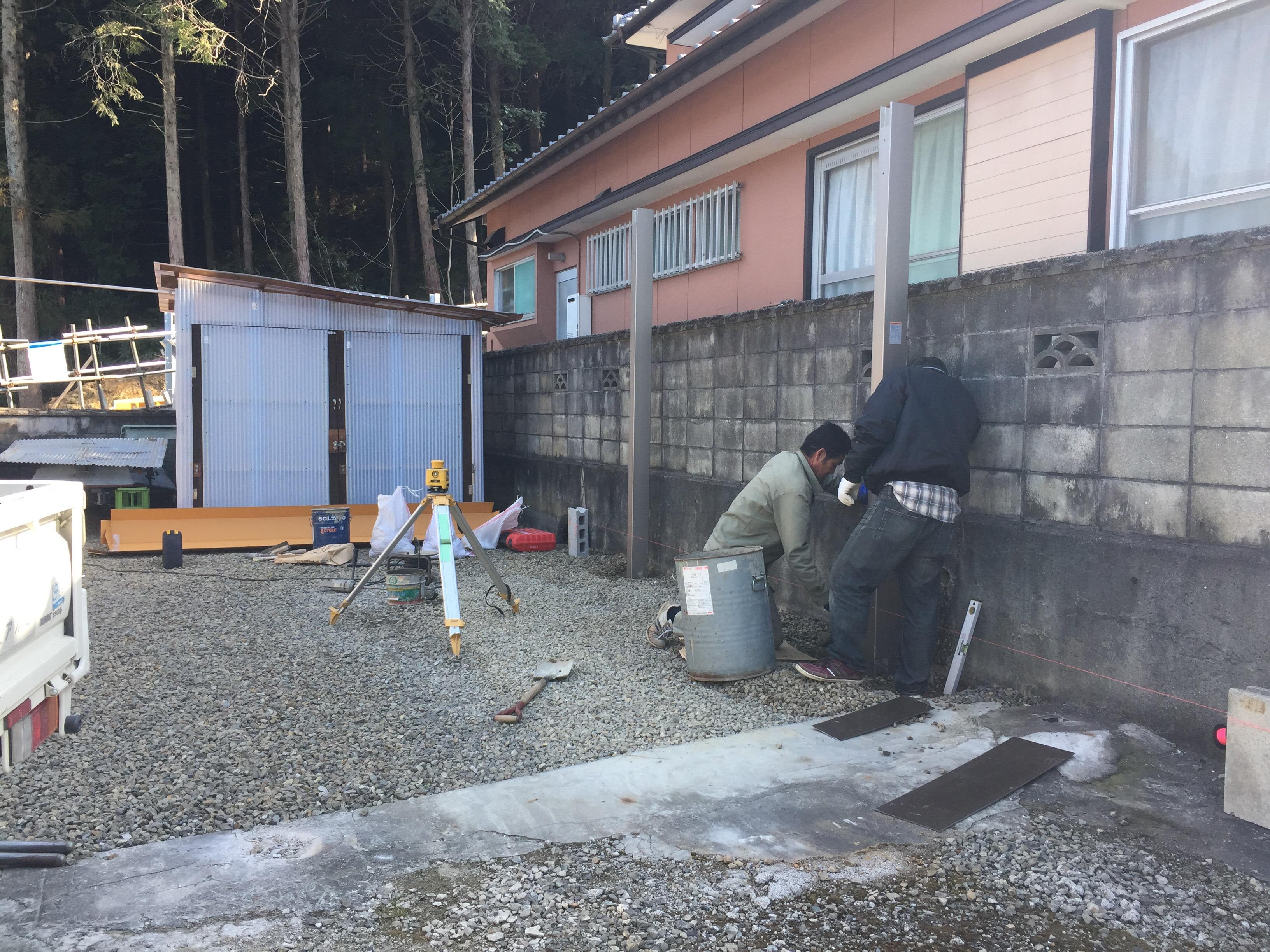 新居浜市 カーポートのリフォーム 施工中2