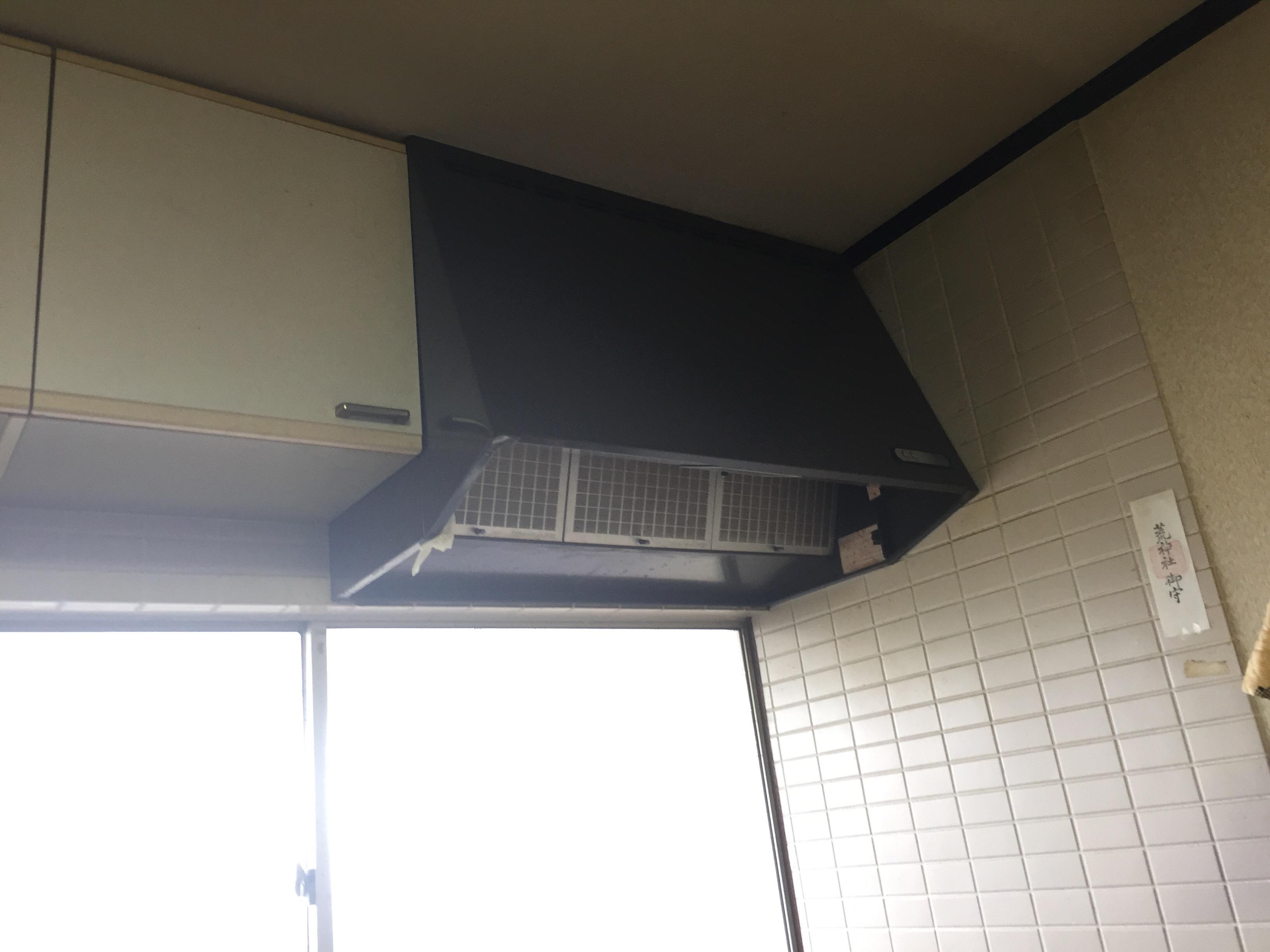 西条市 ガスコンロをIHコンロへリフォーム 換気扇