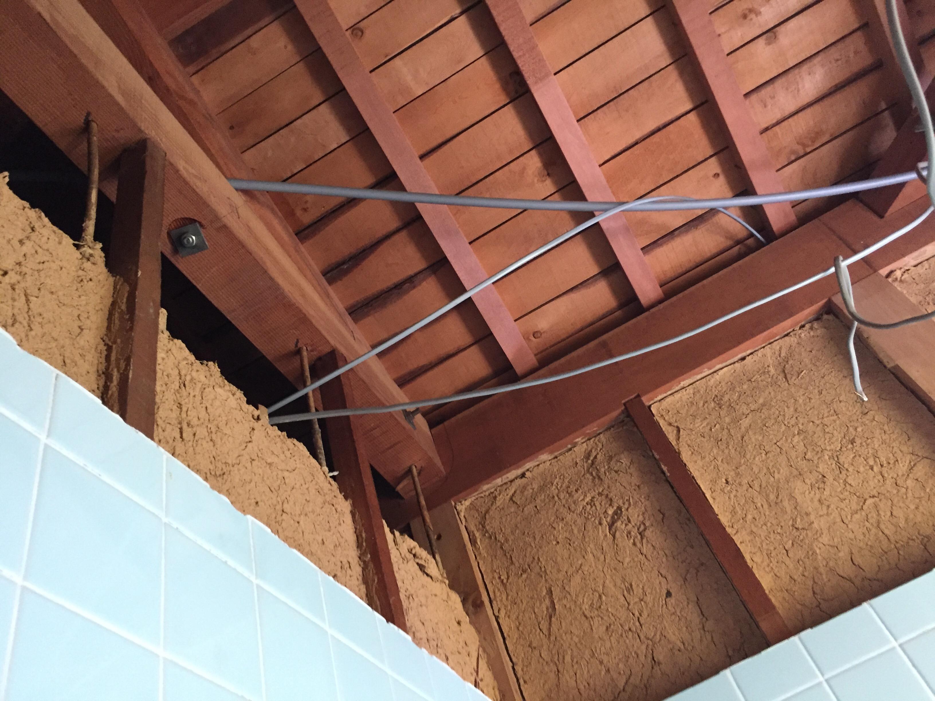 西条市でタイル貼りのお風呂からユニットバスへリフォーム天井