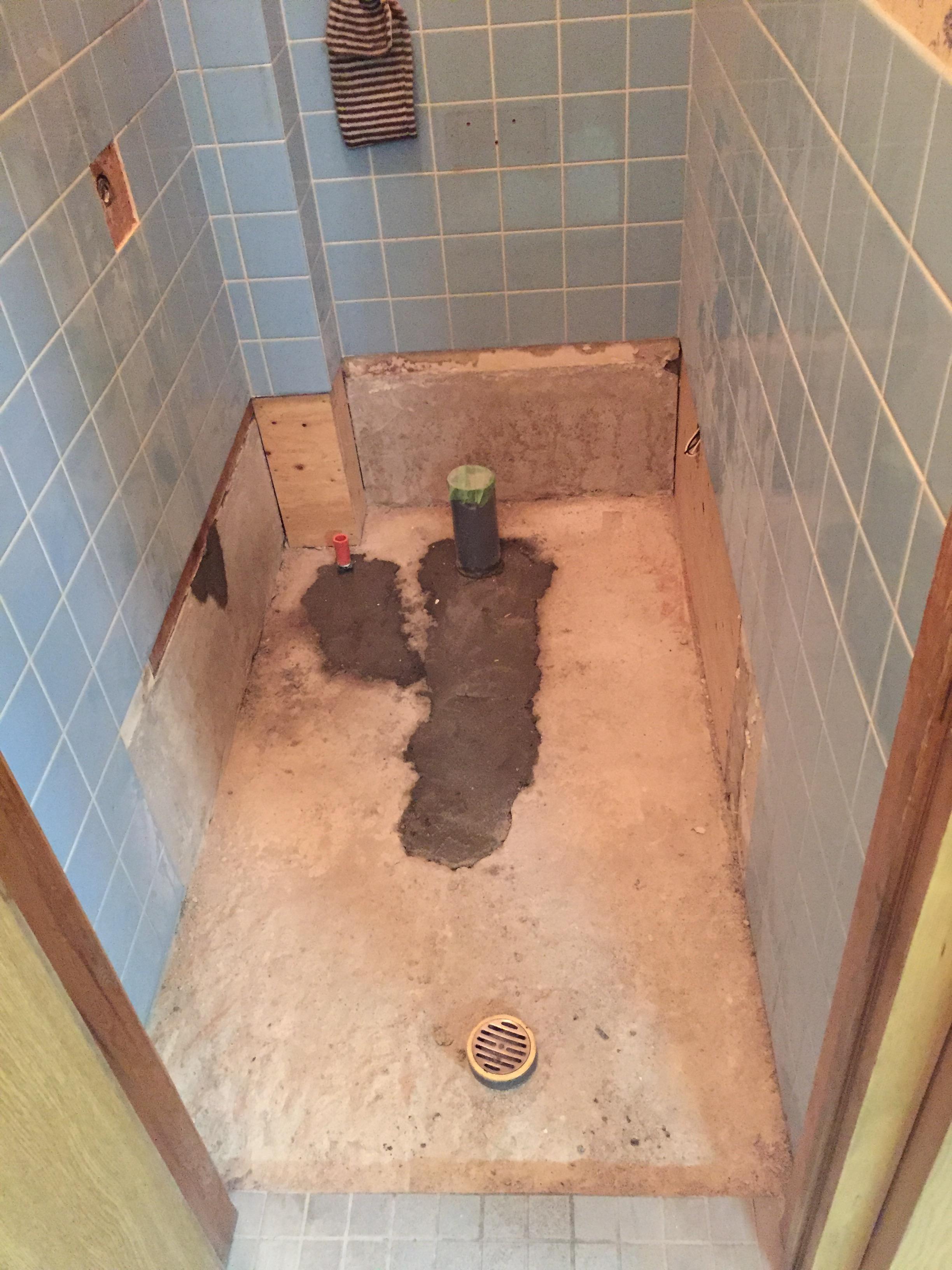 新居浜市 和式から洋式トイレにリフォーム 施工中