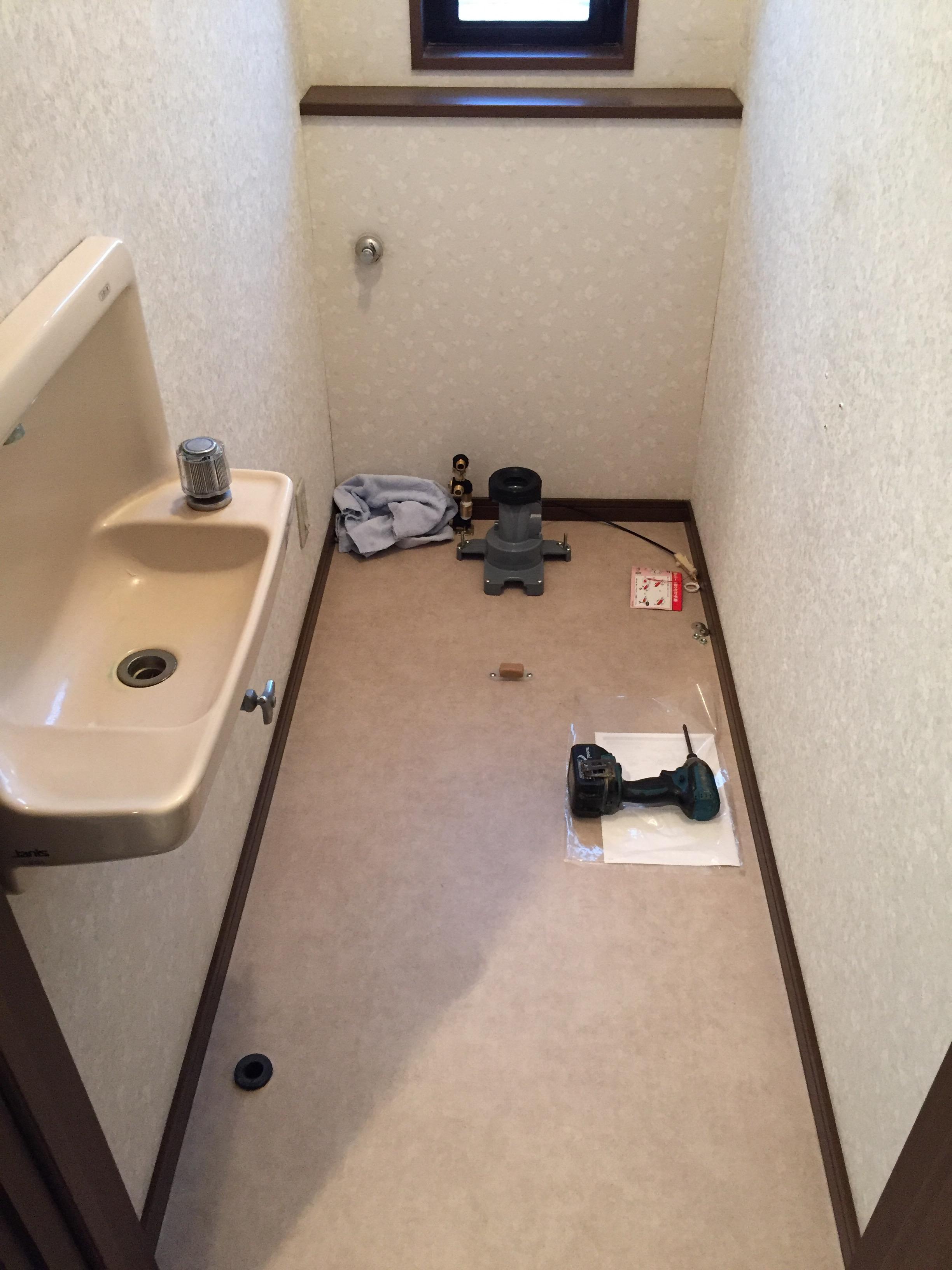 新居浜市トイレ床クッションフロア 施工後