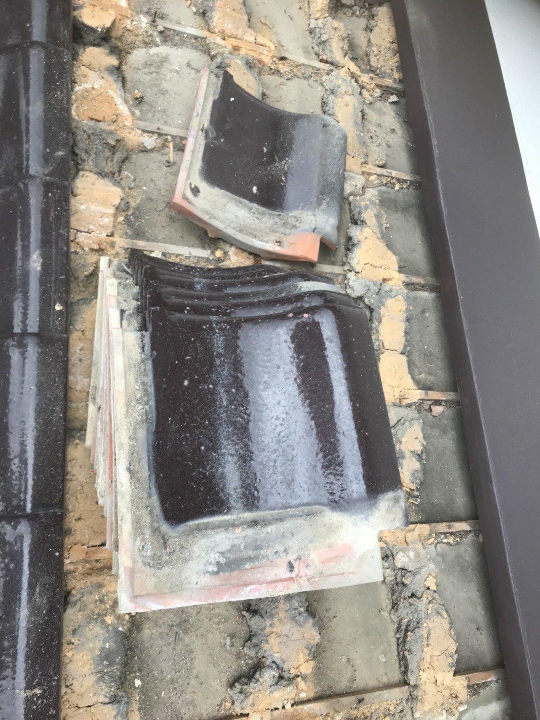 雨漏り釉薬瓦