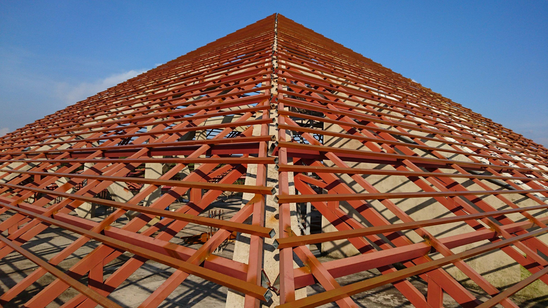 ベトナムVin,Phuocで屋根工事